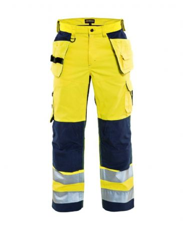 Blaklader 1565 High Vis Mesh Trouser (Yellow/ Navy Blue)